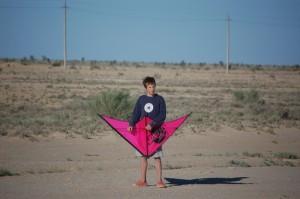 Genug Wind, genug Platz - Drachen steigen lassen